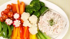Smoked Salmon and Radish Dip - Recipes - Best Recipes Ever - Serve this simple make-ahead dip with an assortment of colourful veggies and crackers Dip Recipes, Snack Recipes, Fast Recipes, Recipies, Best Appetizers, Appetizer Recipes, Canadian Living Recipes, 12 Recipe, Salmon Dishes