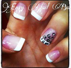 French tip nails. Credit to envy nail bar