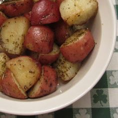 How to Make Roasted Red Potatoes in the Oven (or on the Grill!).  Made them in the oven tonight and they were so easy and delicious!