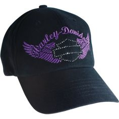 Amazon.com: Harley-Davidson Overseas Tour Studded Pure Glamour Ball Cap Women's One Size Black: Clothing