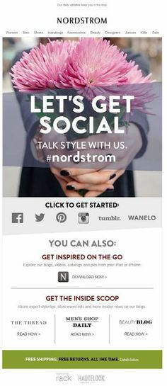 Let's get social email campaign. Great way to connect and push your social media sights with your customer list.  #social #email #emailmarketing