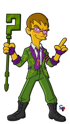 Springfield Punx: Batman; Arkham City - The Riddler