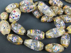 Extremely rare Clear Ambassador Beads traded in Africa, made in the 19th Century.  $1,350.
