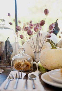 TWINK + SIS HALLOWEEN DINNER PARTY — Twink + Sis #tablescape #chestnut #whitepumpkins