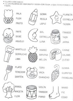 pintar y jugar: actividades para preescolar ✿ Spanish Learning∕ Teaching Spanish ∕ Spanish Language ∕ Spanish vocabulary ∕ Spoken Spanish ✿ Share it with people who are serious about learning Spanish! Dual Language Classroom, Bilingual Classroom, Bilingual Education, Spanish Classroom, Spanish Worksheets, Spanish Vocabulary, Spanish Activities, Spanish Teacher, Teaching Spanish