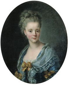 Une lady en robe bleue, 1770