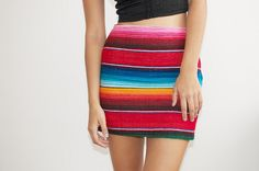 DIY summer mexican blanket skirt inspired by mara hoffman. Such a simple piece to make yourself.