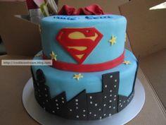 Superhero Cake, Superhero Birthday Party, 3rd Birthday Parties, Baby Birthday, Birthday Cakes, Superman Cakes, Superman Party, Superman Logo, Beautiful Cakes