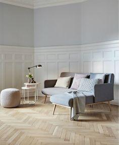 sofa, wall color, molding Hübsch 2016 Collection