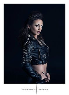 Spiked Leather Jacket with Cropped Motorcycle Fit on Etsy, $275.00