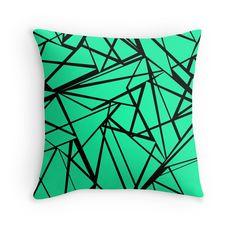 Geometric pattern in bright mint green .