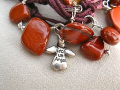 Eres un Angel - You are an Angel in Spanish . . a charm with actual words