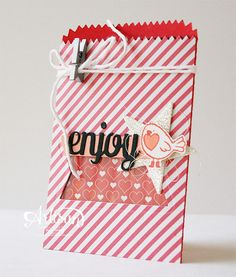 Mini Treat Bag Thinlits Dies, Hey, Valentine, Blendabilities, Valentine - Inge Groot-