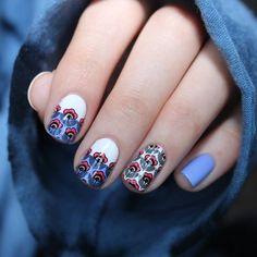 Flower Power 01 Stamping Nail Art, Pedi, Beauty Nails, Flower Power, Nail Art Designs, Nailart, Art Ideas, Hair Makeup, London