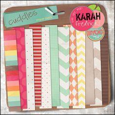 Cuddles Paper Pack by Karah Fredricks ... Digital Scrapbooking