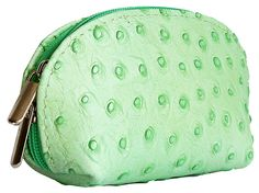 Light Green Ostrich Leather Coin Purse