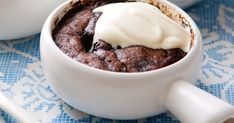 Microwave mocha self-saucing pudding. This simple serving idea adds a sweet finish to a weeknight meal. Pudding Desserts, Pudding Recipes, Winter Desserts, Fun Desserts, Best Dessert Recipes, Sweet Recipes, Dessert Ideas, Easy Cooking, Cooking Recipes