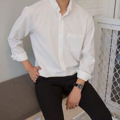 Korean Outfits, Mode Outfits, Fashion Outfits, Stylish Mens Outfits, Casual Outfits, Men Casual, Casual Styles, Stylish Clothes, Korean Fashion Men