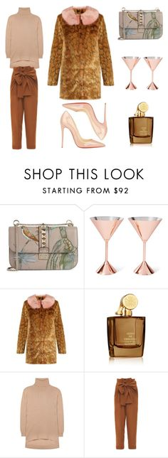 """""""Untitled #1426"""" by christawallace on Polyvore featuring Valentino, Tom Dixon, Shrimps, Aedes De Venustas, Balenciaga, Jonathan Saunders and Christian Louboutin"""