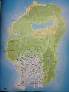 Map for Grand Theft Auto V