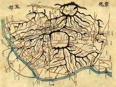 Map of Seoul, 1887.