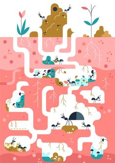 The ant hill on Behance