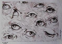 Arte Grunge, Eyes Artwork, Arte Sketchbook, Arte Horror, Hippie Art, Weird Art, Eye Art, Art Drawings Sketches, Psychedelic Art