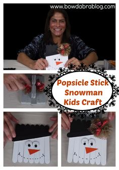 Video Tutorial Popsicle Stick Snowman Craft