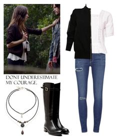 """""""Hayley Marshall 2x07 - The Originals"""" by shadyannon ❤ liked on Polyvore featuring moda, Paige Denim, Free People, Rupert Sanderson, Rick Owens i Topshop"""