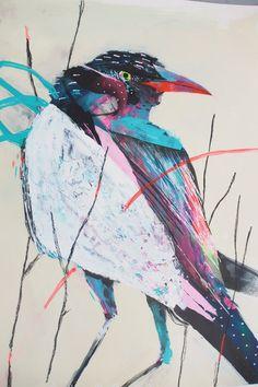 #TWOONE bird Stolenspace Gallery. UK.