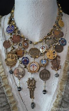 Kay Adams by kris - Diy Recycled Jewelry Funky Jewelry, Recycled Jewelry, Coin Jewelry, Jewelry Crafts, Jewelry Art, Beaded Jewelry, Jewelery, Vintage Jewelry, Handmade Jewelry