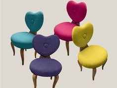 Upholstered fabric chair MY HEART by Bizzotto | design Tiziano Bizzotto