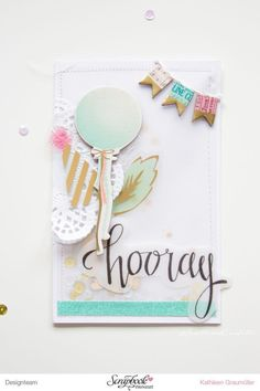 A Confetti Birthday card with the new Maggie Holmes collection by Crate Paper - with confetti shaker pocket, by ScatteredConfetti // #scrapbooking #cratepaper #maggieholmes