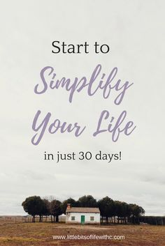 Looking to cut the clutter? Organize your home? Simplify your life? Check out a great 30 day challenge!