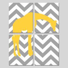 Modern Nursery Giraffe Kristy this wud b so cute in ur nursery if u order that bedding