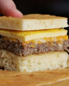 Sausage egg and cheese Sheet Pan Breakfast Sandwich Recipe- extra can be frozen for quick meal by Tasty recipes for two recipes fry recipes Sandwich Bar, Roast Beef Sandwich, Breakfast Sandwich Recipes, Brunch Recipes, Sandwich Ideas, What's For Breakfast, Breakfast Pancakes, Breakfast Items, Breakfast Dishes