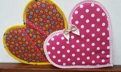 Tutorial, DIY, Passo à Passo Como Fazer um Pegador de Panelas em Forma de Coração.