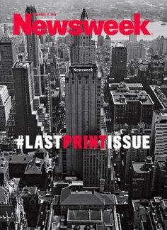 Última capa impressa do Newsweek.