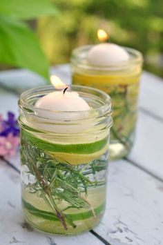 10 DIY Bug Repellent ideas for the yard when you're outside. Candles, sprays and more - kid friendly!