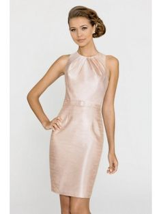 317e37f8660 alexia-4144-bridesmaid-dress Round neck triple pleated dress with a self  belt
