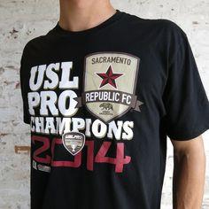 24b37c8dc22ca4 Men's 2014 USL PRO Champions Tee - Sacramento Republic FC Shop #soccer  #USLPRO #RepublicFC