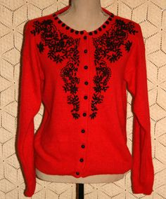 vintage beaded cardigan | Fabulous Style Over 40 | Pinterest ...