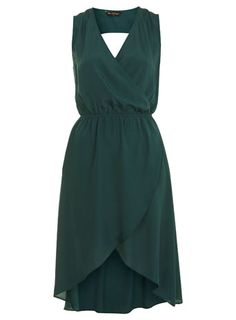 I am so into Emeral Green....Green Wrap Front Dress
