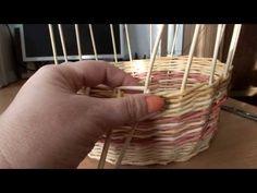 ▶ плетение из газет загибка корзины часть №3 - YouTube