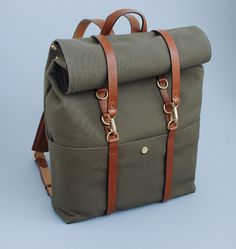 I don't know what it is about canvas and leather, but damnit I love it! Mismo backpack $575...a terrible price. TERRIBLE.  =[