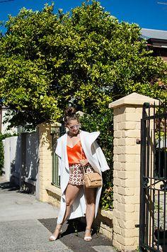 Monique Ceccato - Simone Perele Silk Camisole - Orange Burst