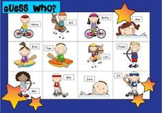 Guess who - speaking and listening, oral communication