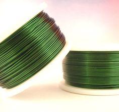 SALE 26 gauge Green Economical Enameled Coated by UnkamenSupplies, $8.00