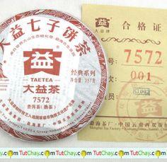 #НОВИНКА #Пуэр Шу 7572 №1 фабрика #Мэнхай #Menghai Tea Factory #tutchay #тутчай