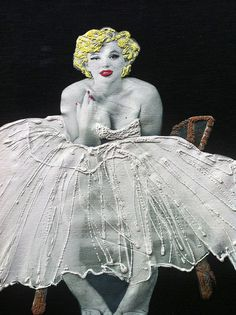 MARILYN MONROE T-SHIRT PAINTED 3d
